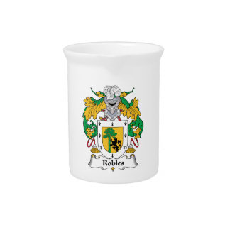 Robles Family Crest Pitchers