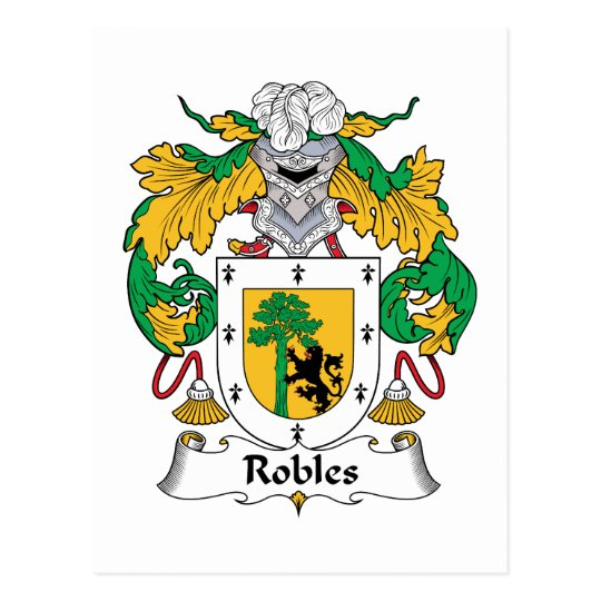 Robles Family Crest Postcard