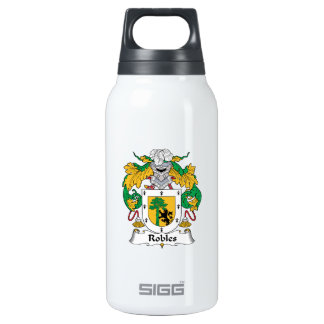 Robles Family Crest 10 Oz Insulated SIGG Thermos Water Bottle