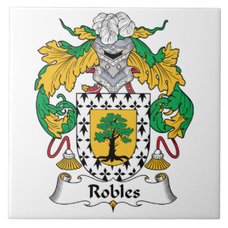 Robles Family Crest Tile