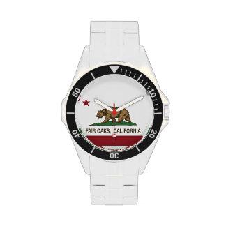 Robles justos de la bandera del estado de Californ Relojes De Mano