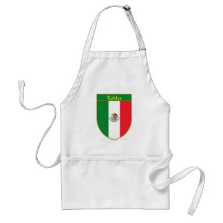 Robles Mexico Flag Shield Adult Apron