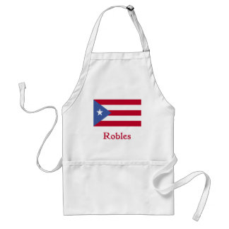 Robles Puerto Rican Flag Adult Apron