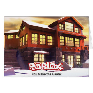 ROBLOX Winter Scene Greeting Card - Blank