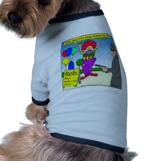 robo 579 el dibujo animado del payaso ropa para mascota