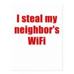 Robo a mis vecinos Wifi Tarjeta Postal