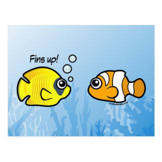 Robo a pescado: ¡Aletas para arriba! Tarjeta Postal