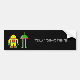 Robo & Bip Bumper Sticker