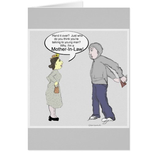 Robo de la suegra… tarjeta de felicitación