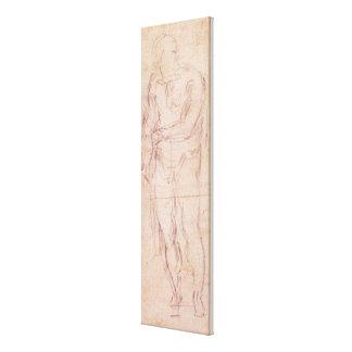 Robo de un chica del mercado, 1807 (w/c, bodycolou impresion en lona