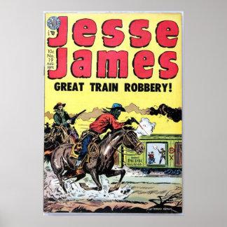 Robo del tren de Jesse James Póster
