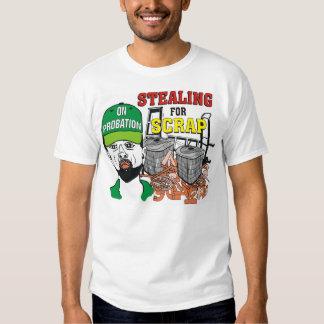 Robo divertido para la camiseta de los hombres del remera