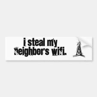Robo el WiFi. de mi vecino Etiqueta De Parachoque