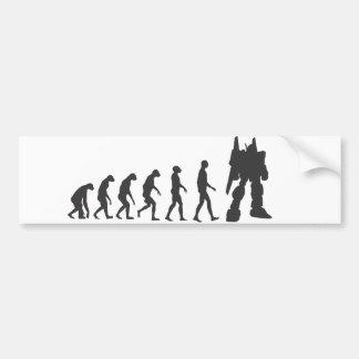 Robo-Evolución Pegatina De Parachoque