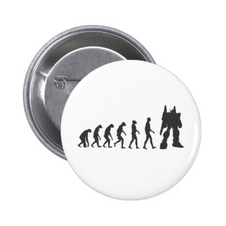 Robo-Evolution Pinback Button