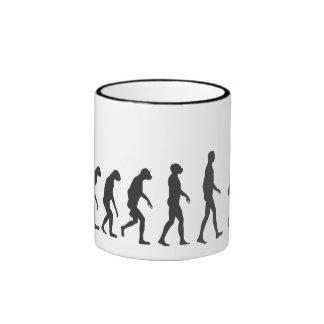 Robo-Evolution Ringer Coffee Mug