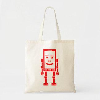 Robo Phone - Red Tote Bag