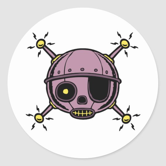 Robo Pirate Classic Round Sticker
