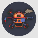 Robo Pirate II Classic Round Sticker