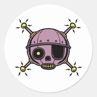 Robo Pirate Classic Round Sticker