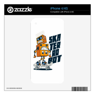 Robo Skate Skins For iPhone 4