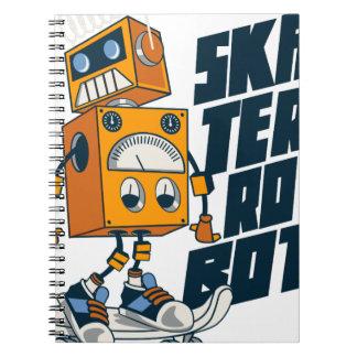 Robo Skate Spiral Notebook