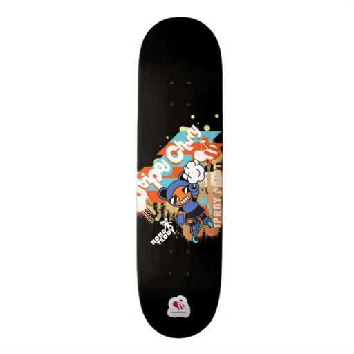Spray Paint Skateboard Deck