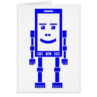 Robo-teléfono - azul tarjetón