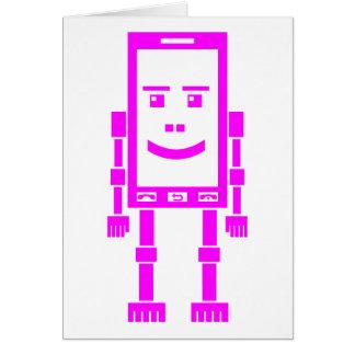 Robo-teléfono - magenta tarjeton