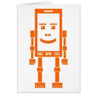 Robo-teléfono - naranja tarjetas