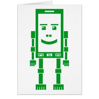 Robo-teléfono - verde de hierba felicitación