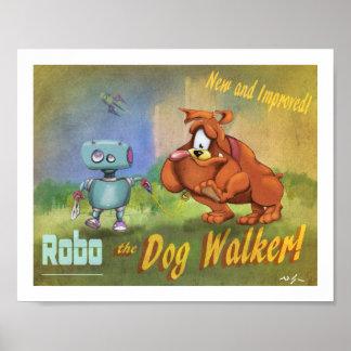 Robo - the dog walker poster