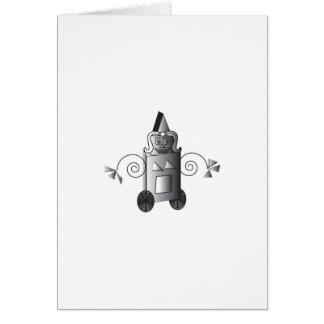 Robo-Woman Greeting Card