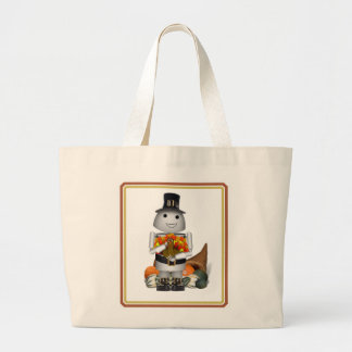Robo-x9 Celebrates Thanksgiving Jumbo Tote Bag