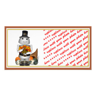 Robo-x9 Celebrates Thanksgiving Personalized Photo Card