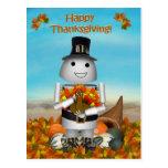 Robo-x9 Celebrates Thanksgiving Postcard