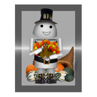 Robo-x9 Celebrates Thanksgiving Post Cards