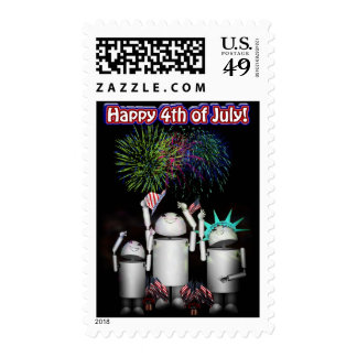 Robo-x9 Celebrates the 4th of July Stamps