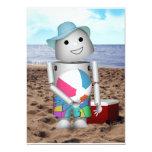 Robo-x9 en la playa invitación 12,7 x 17,8 cm