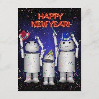 Robo-x9 & Family Celebrate the New Year! postcard