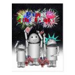 Robo-x9 & Family Celebrates the 4th of July Postcard