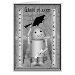 Robo-x9 graduado - casquillos apagado en la tarjeta de felicitación