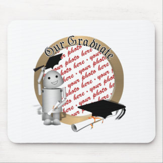 Robo-x9 Graduate - Caps Off in Celebration - Frame Mouse Pad