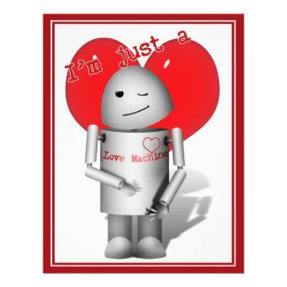 Robo-x9 Love Machine (With Heart) Custom Flyer