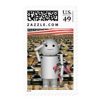 Robo-x9 patrióticos - Recuerde el Memorial Day Sellos