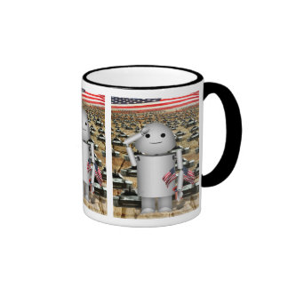 "Robo-x9 Says ""Tanks A Lot!"" for Memorial Day Coffee Mugs"