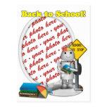 Robo-x9 vuelve al marco de la foto de la escuela tarjeta postal