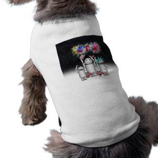 Robo-x9 y la familia celebra el 4 de julio camisetas de perrito