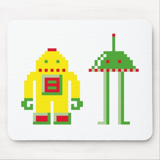 Robo y Bip Alfombrillas De Ratón