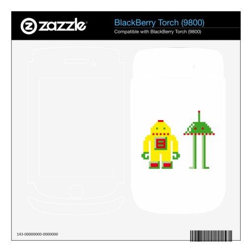 Robo y Bip BlackBerry Calcomanías